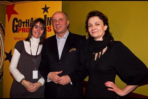 Black Rabbit's Adeline Monzier and AFF programme director Ula Sniegowska with the vice mayor of Wroclaw